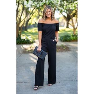 GIBSON OFF SHOULDER JERSEY JUMPSUIT ♥️IN STORES♥️